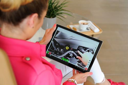 Digital visit of the garage at Lexus in Germany RealWear
